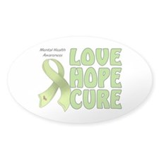 Mental Health Awareness Oval Decal