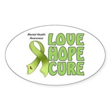 Mental Health Awareness Oval Stickers