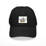 Silver Sebright Bantams Black Cap