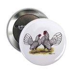 Silver Sebright Bantams Button