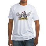 Silver Sebright Bantams Fitted T-Shirt