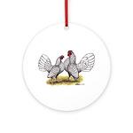 Silver Sebright Bantams Ornament (Round)