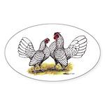 Silver Sebright Bantams Oval Sticker