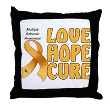 Multiple Sclerosis Awareness Throw Pillow