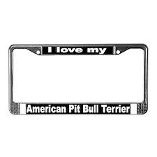 """""""American Pit Bull Terrier""""License Plate Frame"""