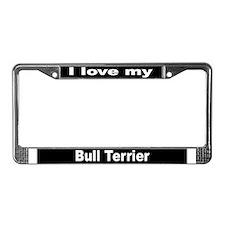 """""""Bull Terrier"""" License Plate Frame"""