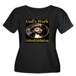 God's Work Women's Plus Size Scoop Neck Dark T-Shi