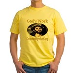 God's Work Yellow T-Shirt