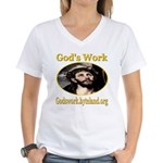 God's Work Women's V-Neck T-Shirt