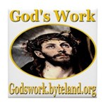 God's Work Tile Coaster