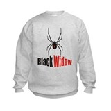 Plain black widow Sweatshirt