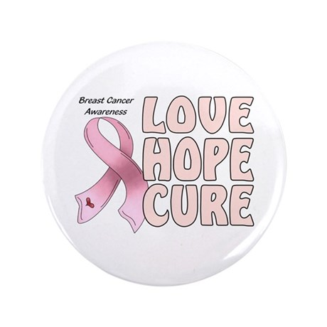 "Breast Cancer Awareness 3.5"" Button (100 pack)"
