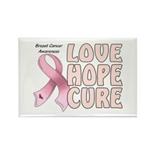 Breast Cancer Awareness Rectangle Magnet (100 pack