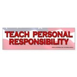 Teach Personal Responsibility Flag Bumper  Bumper Sticker