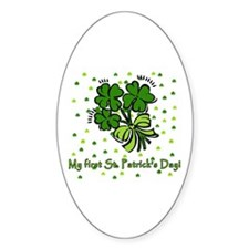 My First St Patricks Day Oval Decal