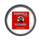 Portola Sardines Head Design Wall Clock