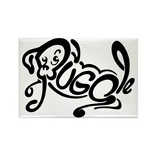 Puggle Logo Rectangle Magnet