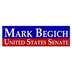 Mark Begich for Senate Bumper Sticker