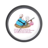 Mother Goose Hush Baby Dolly Wall Clock
