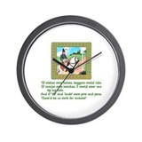 Mother Goose If Wishes Were Horses Wall Clock