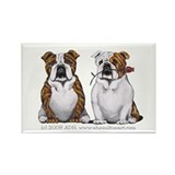 Bulldog Romance Rectangle Magnet