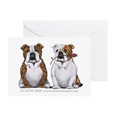 Bulldog Romance Greeting Card