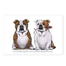 Bulldog Romance Postcards (Package of 8)