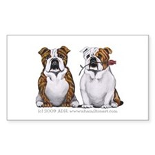 Bulldog Romance Decal