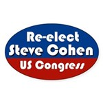 Re-elect Steve Cohen oval bumper sticker