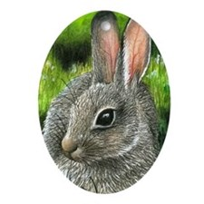 Hare 13 Oval Ornament