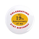 "Celebrating 40th Birthday 3.5"" Button (100 pack)"