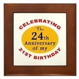 Celebrating 45th Birthday Framed Tile