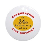 Celebrating 45th Birthday Ornament (Round)
