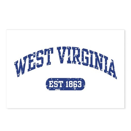 West Virginia Est 1863 Postcards (Package of 8)