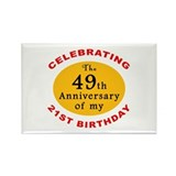 Celebrating 70th Birthday Rectangle Magnet