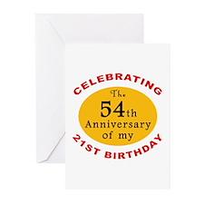 Celebrating 75th Birthday Greeting Cards (Pk of 20