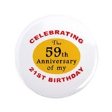 "Celebrating 80th Birthday 3.5"" Button"
