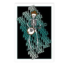 Bluegrass Banjo Skeleton Postcards (Package of 8)