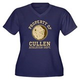 Cullen Athletics Women's Plus Size V-Neck Dark T-S