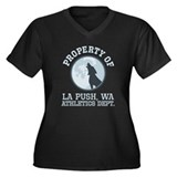 La Push Athletics Women's Plus Size V-Neck Dark T-