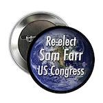 Re-elect Sam Farr to Congress button