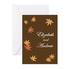 Fall Leaves on Mocha Wedding Invitation (Pk of 20)