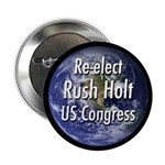 Re-elect Rush Holt to Congress button