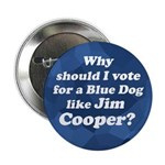 Blue Dog Jim Cooper campaign button