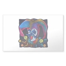 Jester Rectangle Sticker 10 pk)