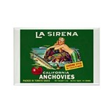 La Sirena Mermaid Sardine Lab Rectangle Magnet
