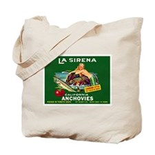 La Sirena Mermaid Sardine Lab Tote Bag