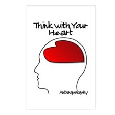 Think With Your Heart Postcards (Package of 8)