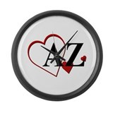 Love Arizona Heart Large Wall Clock