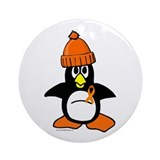 Winter Penguin 1 Leukemia Ornament (Round)